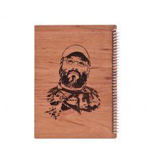 دفتر مشق خط دار جلد چوبی هیرون