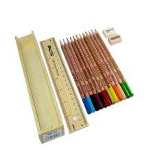 مداد رنگی ۱۲ رنگ فکتیس جعبه چوبی FACTIS