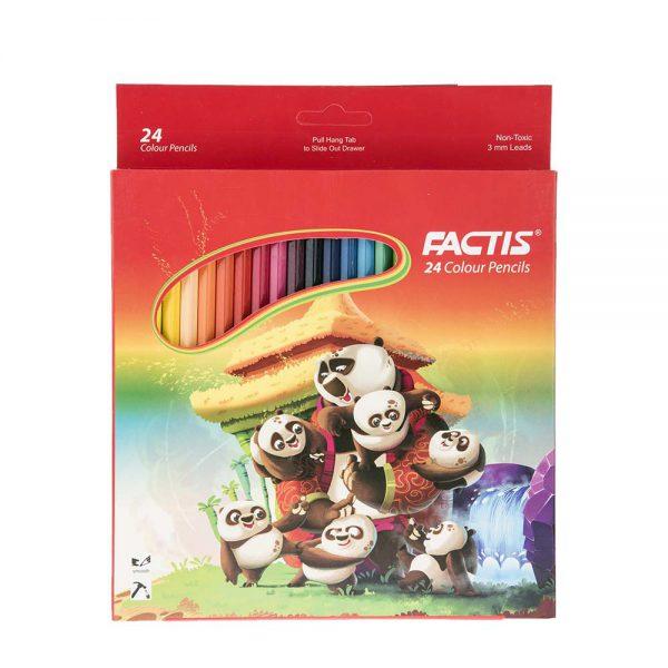 رنگی 12 و 24 رنگ فکتیس جعبه مقوایی