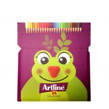 مداد رنگی 24 رنگ آرت لاین طرح قورباغه جعبه مقوایی