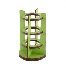 جامدادی چوبی رومیزی مدل استوانه
