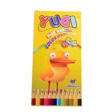 مداد رنگی ۱۲ رنگ یوگی جعبه مقوایی